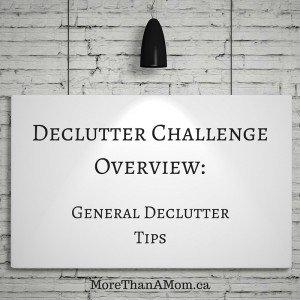 general decluttering tips