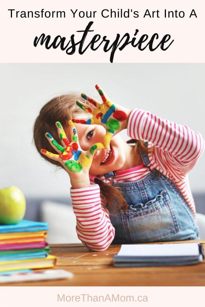 child's art pinterest image